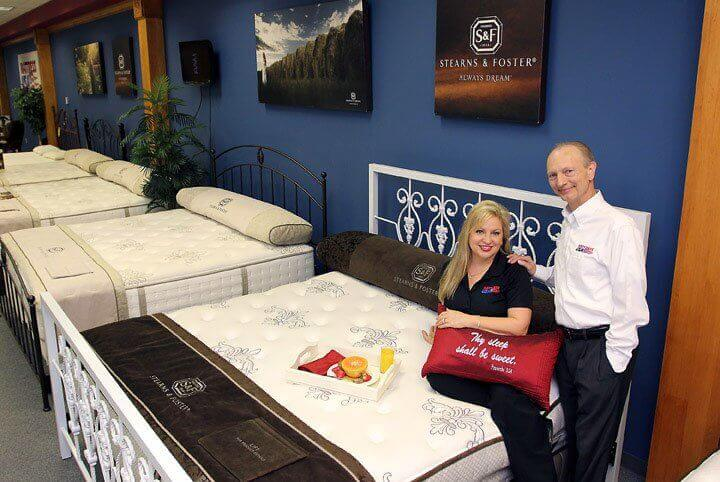 Ronda and Dan Corlet at Mattress USA